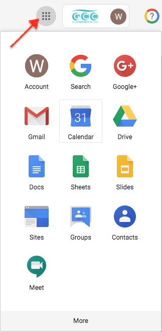 GCC Google Suite image showing icons