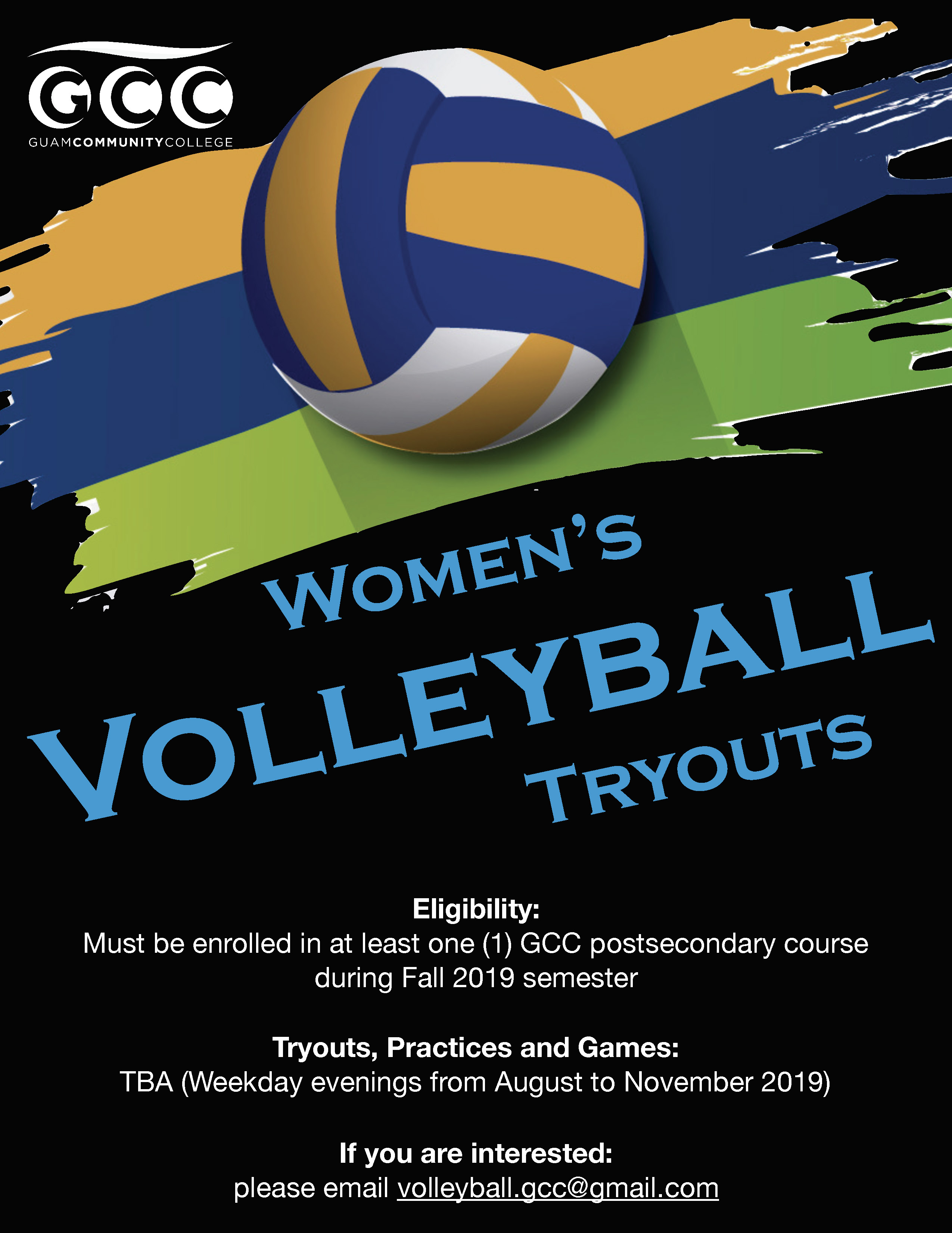 Women's Volleyball Tryouts - Guam Community College | GCC Guam