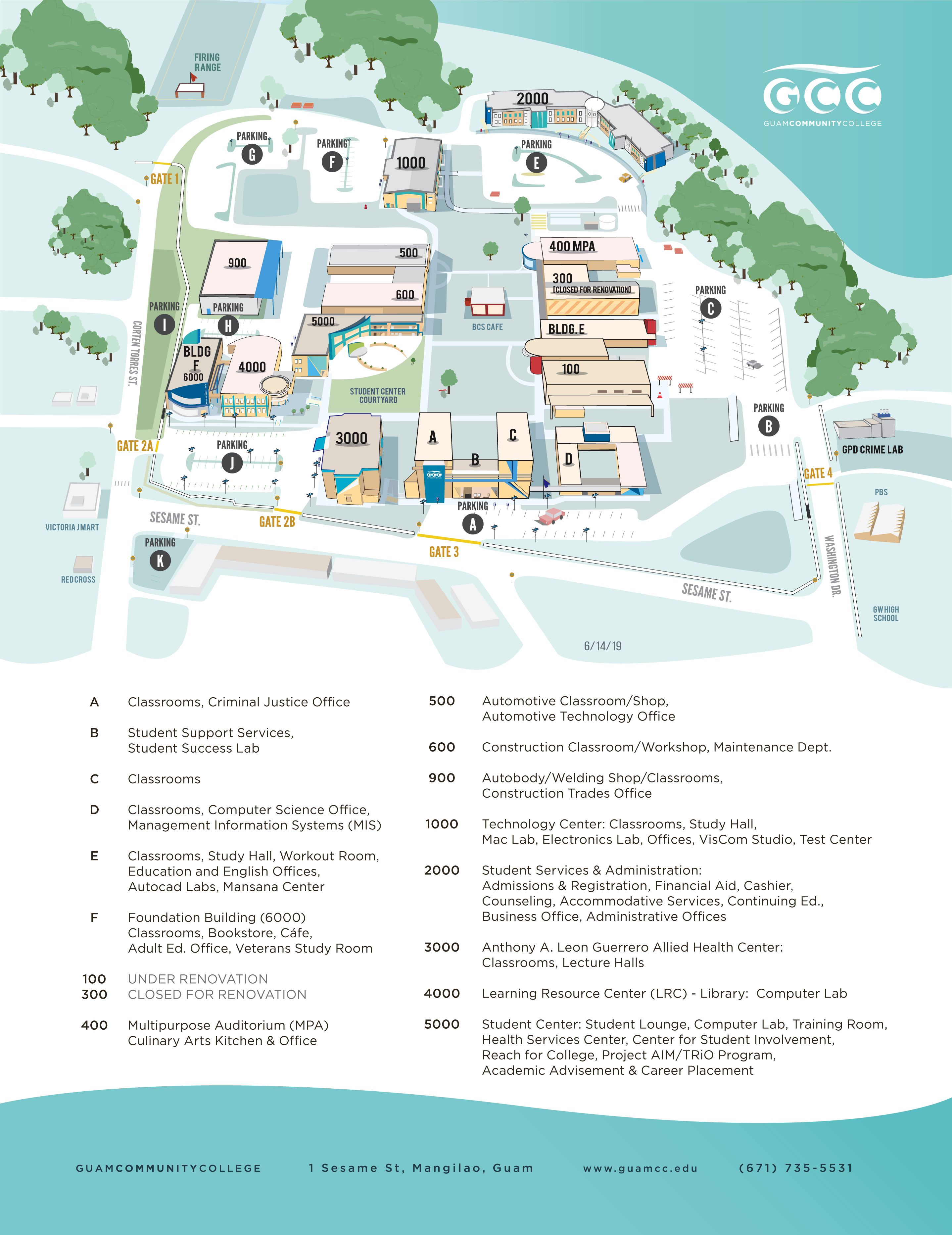 Campus Map - Guam Community College | GCC Guam