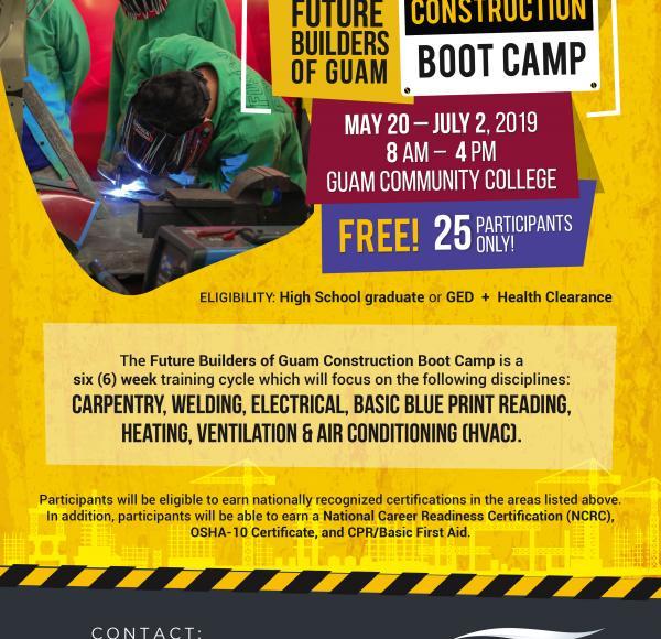GCC Provides Free Training for Future Builders of Guam