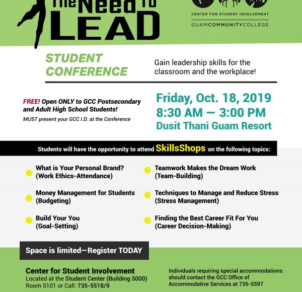 """Need to Lead"" Student Conference on Oct. 18th at Dusit Thani"